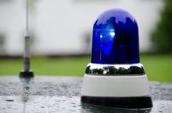 Blue emergency vehicle lighting Royalty Free Stock Image