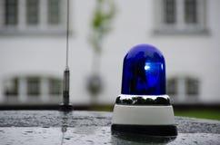 Blue emergency vehicle lighting Stock Image
