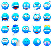 Blue Emoticon Royalty Free Stock Photo