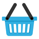 Blue Empty Basket with Two Handles Icon Stock Photography