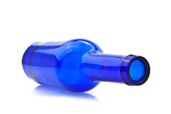 Blue empty bottle Stock Photos