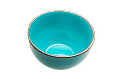 Blue empty bowl Stock Image