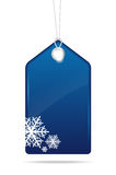 Blue empty christmas price tag Royalty Free Stock Photography