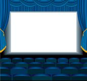 Blue empty cinema Royalty Free Stock Photo