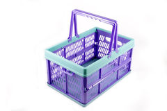 Blue empty crate isolated Stock Images
