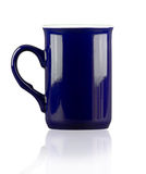 Blue empty cup. Royalty Free Stock Image