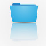 Blue empty folder on background of the gradient. Vector illustration.vector illustration concept for web banners, web and mobile app, web sites, printed Stock Photo
