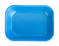 Blue empty food tray Royalty Free Stock Photography
