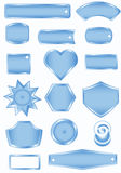 Blue empty frames Royalty Free Stock Images