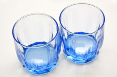 Blue empty glasses Royalty Free Stock Photo