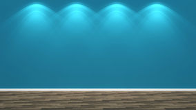 Blue empty interior and lamp Royalty Free Stock Photo