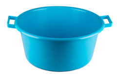 Blue empty plastic bowl Royalty Free Stock Photo