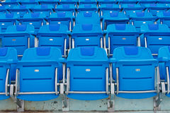 Blue empty plastic seats Stock Images
