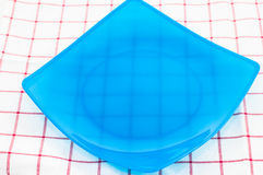 Blue empty plate Royalty Free Stock Images