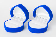 Blue Empty Ring Case Royalty Free Stock Photography