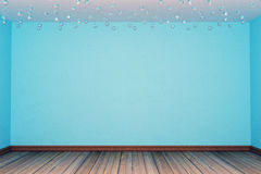 Blue empty room. With glass furnishings Stock Photography
