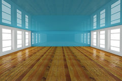 Blue empty room Stock Photo