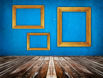 Blue empty room Royalty Free Stock Image