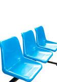 Blue empty  seats Stock Images