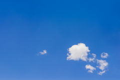 Blue Empty sky surface with minimal cloud stock photography