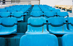 Blue empty stadium Royalty Free Stock Photography