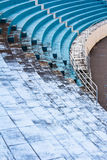 Blue empty stadium Royalty Free Stock Photos