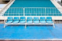 Blue empty stadium Stock Photos