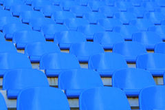 Blue empty stadium seats Stock Images