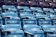 Blue empty stadium seats Royalty Free Stock Images