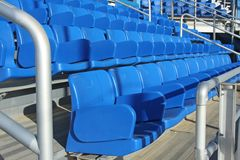 Blue empty stadium seats Royalty Free Stock Image