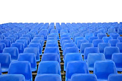 Blue Empty Stadium Seats Stock Image