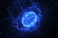 Blue energy oval. Shape, fractal background Royalty Free Stock Image