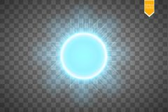Blue energy ring abstract.conceptual vector design with free area in center for any object. Vector Royalty Free Stock Photo