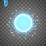 Blue energy ring abstract.conceptual vector design with free area in center for any object. Vector Stock Photos