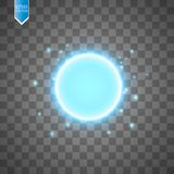 Blue energy ring abstract.conceptual vector design with free area in center for any object. Vector Stock Photo