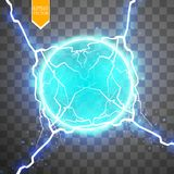 Blue energy ring with lightning abstract.conceptual vector design with free area in center for any object. Vector Stock Images