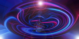 Blue energy sphere. Blue and pink energy transformed sphere Stock Photos