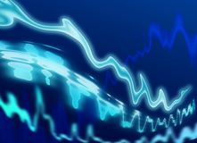 Blue Energy Wave Royalty Free Stock Photography