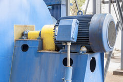 Blue engine and fumes ventilator Stock Images