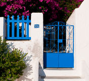 Blue entrance door Royalty Free Stock Images