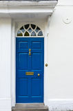 Blue entrance door Stock Images