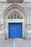 Blue entrance door Royalty Free Stock Photos