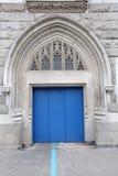 Blue entrance door Royalty Free Stock Photos