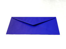 Blue envelope. Close up of blue envelope on white background Stock Photos