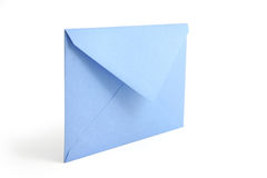 Blue envelope. Concept of communication Royalty Free Stock Photo