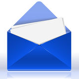 Blue Envelope Stock Image