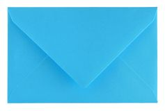 Blue envelope Stock Image