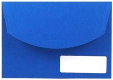 Blue envelope royalty free stock image