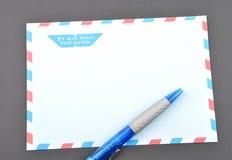 Blue envelope Stock Photos