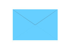 Blue envelope isolated on white Stock Images